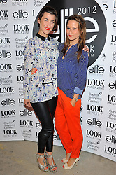 Izzy Lawrence & Kelly Eastwood arriving at the final of the Elite Model Look 2012 competition in London on Thursday, 30th August 2012.  Photo by: Chris Joseph / i-Images