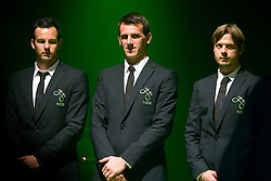 Goalkeepers Samir Handanovic, Jasmin Handanovic and Aleksander Seliga at official presentation of Slovenian National Football team for World Cup 2010 South Africa, on May 21, 2010 in Congress Center Brdo at Kranj, Slovenia. (Photo by Vid Ponikvar / Sportida)
