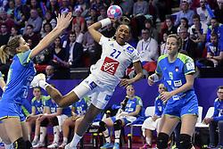 France player Estelle Nze Minko during the Women's european handball chanmpionship preliminary round, Slovenia vs France. Nancy, Fance -02/12/2018//POLEMILE_01POL20181202NAN023/Credit:POL EMILE / SIPA/SIPA/1812021731