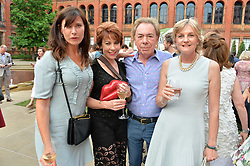 Ronni Ancona, Kathy Lette, Lady Lloyd Webber and Andrew Lloyd Webber at the V&A Summer Party 2017 held at the Victoria & Albert Museum, London England. 21 June 2017.<br /> Photo by Dominic O'Neill/SilverHub 0203 174 1069 sales@silverhubmedia.com