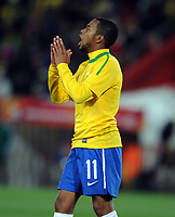 Robinho<br /> Brazil World Cup 2010<br /> Brazil V Korea DPR (2-1) 15/06/10 Group G at the Ellis Park Stadium<br /> FIFA World Cup 2010<br /> Photo Robin Parker Fotosports International