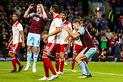 Sam Vokes of Burnley cuts a dejected figure after missing a chance to score a goal - Mandatory by-line: Robbie Stephenson/JMP - 30/08/2018 - FOOTBALL - Turf Moor - Burnley, England - Burnley v Olympiakos - UEFA Europa League Play-offs second leg