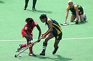 Marsha Mareschia during the women's hockey match of the The Commonwealth Games between South Africa and Trinidad and Tobago held at the Stadium in New Delhi, India on the  October 2010..Photo by:  Ron Gaunt/SPORTZPICS/PHOTOSPORT