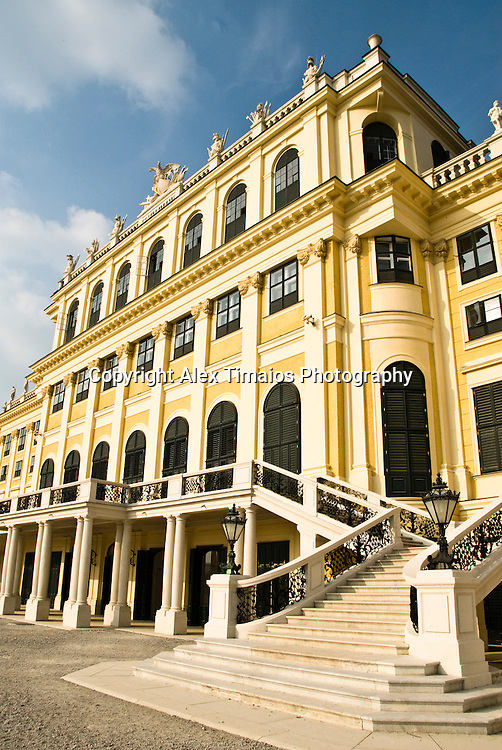 The castle of Schoenbrunn in Vienna, Austria. Residence of the Habsburg dinasty