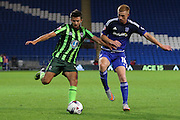George Francomb of AFC Wimbledon during the Capital One Cup match between Cardiff City and AFC Wimbledon at the Cardiff City Stadium, Cardiff, Wales on 11 August 2015. Photo by Stuart Butcher.