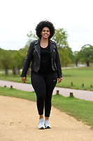 Shareefa Radford Celebrate You Training Session with Tim Weeks in Richmond Park, Surrey - preparing runners for The Vitality London 10,000, which will take place on Monday 27th May 2019. Friday 26 April 2019<br /> <br /> Photo: Kate Green for Vitality London 10,000<br /> <br /> For further information: media@londonmarathonevents.co.uk