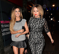 Cheryl Cole and Kimberley Walsh leaving The Box club in Soho, London, UK. 26/04/2014<br />BYLINE MUST READ : GOTCHAIMAGES.COM<br /><br />Copyright by © Gotcha Images Ltd. All rights reserved.<br />Usage of this image is conditional upon the acceptance <br />of Gotcha Images Ltd, terms and conditions available at<br />www.gotchaimages.com