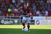 Northampton Town midfielder (on loan from Swansea) Matt Grimes (29) sprints forward with the ball  during the EFL Sky Bet League 1 match between Northampton Town and Oldham Athletic at Sixfields Stadium, Northampton, England on 5 May 2018. Picture by Dennis Goodwin.