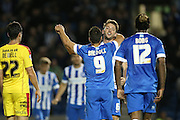 Brighton central midfielder, Dale Stephens scores to make it 2-0 Brighton and Hove Albion and Rotherham United at the American Express Community Stadium, Brighton and Hove, England on 15 September 2015.