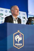 Didier Deschamps - 19.03.2015 - Conference de presse-  Annonce selection Equipe de France <br />Photo : Andre Ferreira / Icon Sport