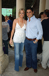CEM & CAROLINE HABIB at Michele Watches Kaleidoscope Summer Garden Party held at Home House, Portman Square, London on 15th June 2005.<br />