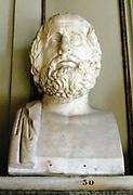 Euripedes (c480-406) Greek tragedian. Portrait bust