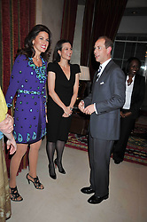 Left to right, CHRISTINA ESTRADA-JUFFALI, LADY NUTTALL and HRH The EARL OF WESSEX at a reception to launch Films Without Borders held The Lanesborough Hotel, London on 8th October 2009.