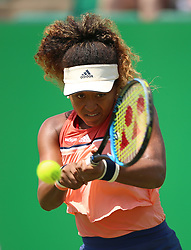 Japan's Naomi Osaka during day one of the Nature Valley Open at Nottingham Tennis Centre.