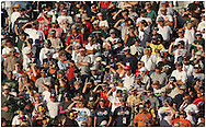 081026 HAMPTON, GA:,NASCAR fans watch the Pep Boys Auto 500 at Atlanta Motor Speedway on Sunday10/26/08, © 2008 Johnny Crawford