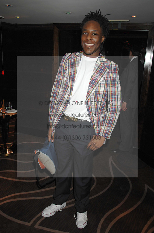 Designer GAVIN DOUGLAS at the launch of the 4th Fashion Fringe - a search to recruit the hottest, undiscovered fashion desugn talent in the UK and Ireland, held at The Bar at The Dorchester, Park Lane, London on 13th March 2007.<br /><br />NON EXCLUSIVE - WORLD RIGHTS