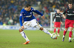 CARDIFF, WALES - Tuesday, February 1, 2011: Cardiff City's Jay Bothroyd during the Football League Championship match at the Cardiff City Stadium. (Photo by Gareth Davies/Propaganda)