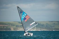 2012 Olympic Games London / Weymouth<br /> <br /> Finn practice race<br /> Finn USARailey Zach