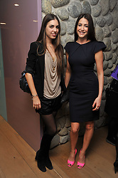 Left to right, AMBER LE BON and LISA SNOWDON at a party to celebrate the announcement of the 20 shortlisted designers for the UK final of the Triumph Inspiration Award 2011 held at the home of Charlotte Stockdale, 8 Francis Street, London SW1 on 31st March 2011.