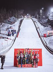 19.01.2019, Wielka Krokiew, Zakopane, POL, FIS Weltcup Skisprung, Zakopane, Herren, Teamspringen, im Bild 2. Platz Oesterreich, Sieger Deutschland, 3. Platz Polen // 2nd placed Austria Winner Team Germany 3rd Poland during the men's team event of FIS Ski Jumping world cup at the Wielka Krokiew in Zakopane, Poland on 2019/01/19. EXPA Pictures © 2019, PhotoCredit: EXPA/ JFK