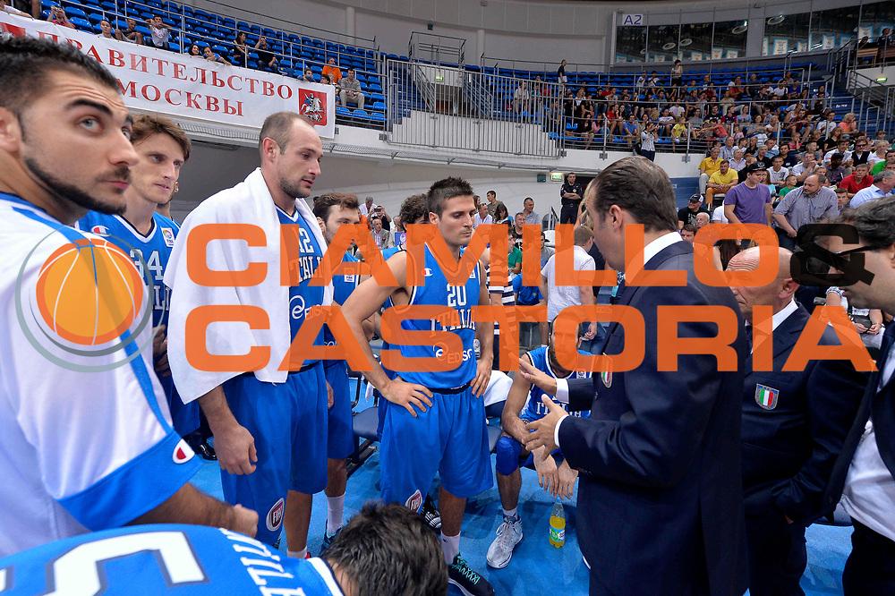 DESCRIZIONE : Mosca Moscow Qualificazione Eurobasket 2015 Qualifying Round Eurobasket 2015 Russia Italia Russia Italy<br /> GIOCATORE : Simone Pianigiani Team<br /> CATEGORIA : Timeout<br /> EVENTO : Mosca Moscow Qualificazione Eurobasket 2015 Qualifying Round Eurobasket 2015 Russia Italia Russia Italy<br /> GARA : Russia Italia Russia Italy<br /> DATA : 13/08/2014<br /> SPORT : Pallacanestro<br /> AUTORE : Agenzia Ciamillo-Castoria/GiulioCiamillo<br /> Galleria: Fip Nazionali 2014<br /> Fotonotizia: Mosca Moscow Qualificazione Eurobasket 2015 Qualifying Round Eurobasket 2015 Russia Italia Russia Italy<br /> Predefinita :