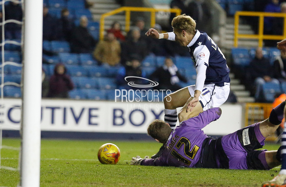 Millwall FC Midfielder Lee Martin ends up conceding a freekick during the Sky Bet League 1 match between Millwall and Colchester United at The Den, London, England on 21 November 2015. Photo by Andy Walter.