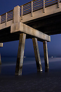 The Jacksonville Beach Pier at Night.