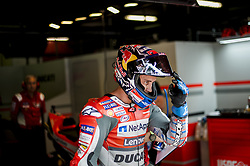June 16, 2018 - Barcelona, Catalonia, Spain - The Italian rider Andrea Dovizioso of Ducati Team, leaving of his box during the Qualifying, Moto GP of Catalunya at Circuit de Catalunya on June 16, 2018 in Barcelona, Spain. (Credit Image: © Joan Cros/NurPhoto via ZUMA Press)