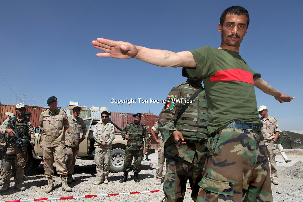 Afghan National Army being trained by ISAF in the trainingcentre in Tarin Kowt, Uruzgan.