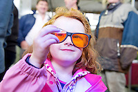 "5 year old Jennifer Conlon from Castlebaldwin Co. Sligo looking at DNA samples at Sheep 2012 ""The Way Forward""  at Teagasc, Mellows Campus, Athenry, Co. Galway Photo: Andrew Downes.."