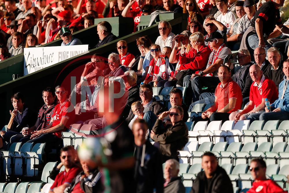 Bristol City fans - Mandatory byline: Rogan Thomson/JMP - 07966 386802 - 30/07/2015 - FOOTBALL - Huish Park Stadium - Yeovil, England - Yeovil Town v Bristol City - Pre Season Friendly.