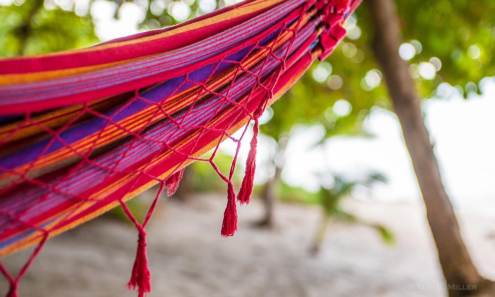 Hammock on the beach at Latitude 10 Resort, Santa Teresa, Costa Rica.