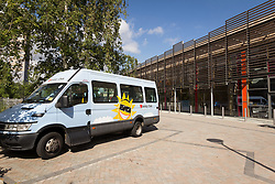 Variety Club mini bus at The Broadwaters Inclusive Learning Community, Tottenham, London Borough of Haringey July 2014. This is a collaboration between two local schools, The Willow Primary School & The Brook Primary Special School. UK