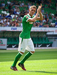 03.08.2014, Weserstadion, Bremen, GER, SV Werder Bremen, Tag der Fans, im Bild Nils Petersen (SV Werder Bremen #24) // during the supporters day of the german 1st Bundesliga Club SV Werder Bremen at the Weserstadion in Bremen, Germany on 2014/08/03. EXPA Pictures © 2014, PhotoCredit: EXPA/ Andreas Gumz<br /> <br /> *****ATTENTION - OUT of GER*****