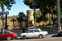 Azerbaijan, Baku. Walls are surrounding the Old City or Inner City of Baku. This is the historical core of Baku.