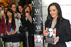 Team GB 2012 Olympic Gold Medalist Victoria Pendleton signs her book 'Between the Lines: My Autobiography' at Waterstone's Canary Wharf London, Thursday September 13, 2012. Photo By Chris Joseph/i-Images