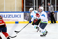 Anze Kopitar and Tomaz Razingar at Poslovilna tekma Tomaza Razingarja, on July 16, 2016 in Ledna dvorana, Bled, Slovenia. Photo by Matic Klansek Velej / Sportida