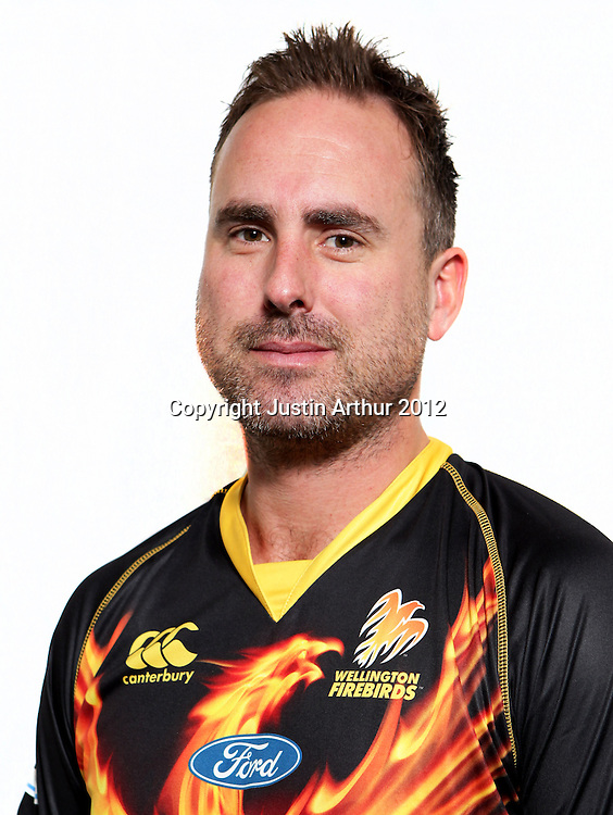 Mark Gillespie, Wellington Firebirds HRV domestic cricket headshots. Basin Reserve, Wellington, New Zealand on Friday 21 December 2012. Photo:Justin Arthur / photosport.co.nz