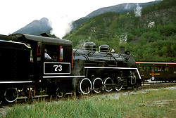 AK: Skagway, Alaska, White Pass Yukon Railroad     .Photo Copyright: Lee Foster, lee@fostertravel.com, www.fostertravel.com, (510) 549-2202.Image: akklon209.