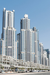 Modern,high-rise apartment buildings in Business Bay district of Dubai United Arab Emirates UAE Middle East