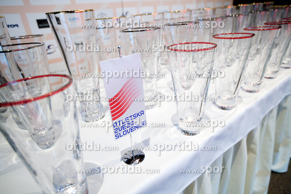 Trophies during the Slovenia's Athlete of the year award ceremony by Slovenian Athletics Federation AZS, on November 12, 2008 in Hotel Mons, Ljubljana, Slovenia.(Photo By Vid Ponikvar / Sportida.com) , on November 12, 2010.
