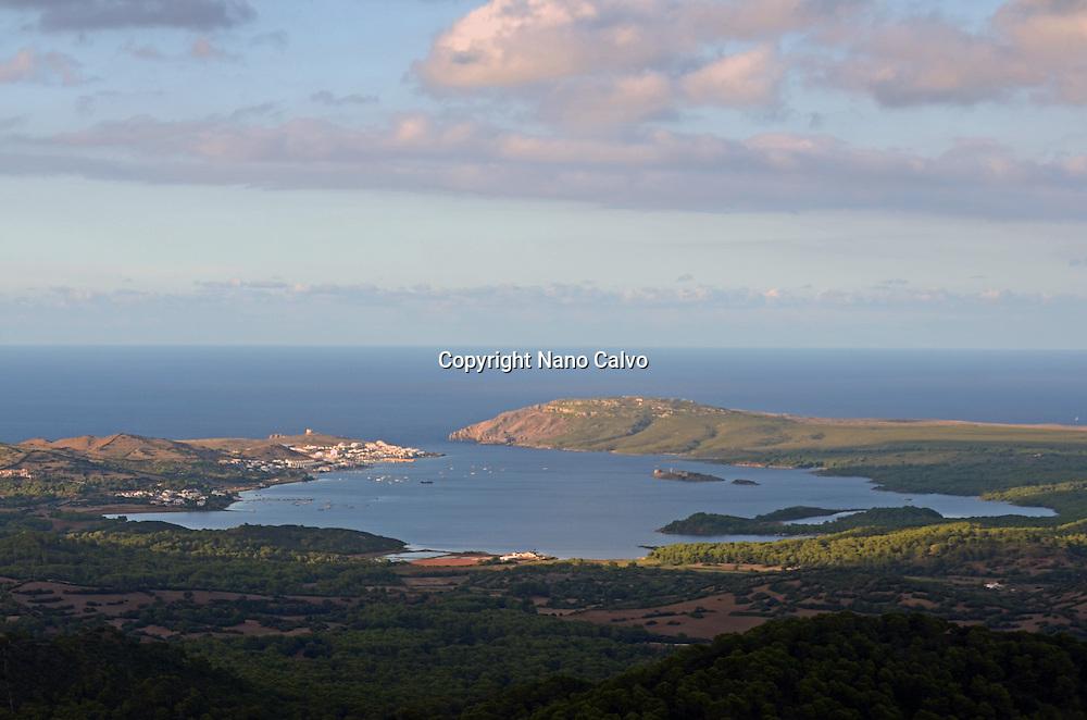View of Fornells from Mount Toro (Monte Toro), Menorca