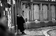 Czechoslovakia, Prague,1989 during the Velvet Revolution, the fall of communism in Eastern Europe. Lovers outside the Jewish Cemetery in U Stareho Hrbitova.<br /> COPYRIGHT PHOTOGRAPH BY BRIAN HARRIS  &copy;<br /> 07808-579804