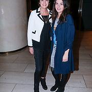 NLD/Amsterdam/20130309 - Modeshow Mart Visser zomer 2013, Martine van Os en dochter Bo