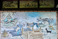 wall paintings Qingyang Gong taoist temple  in Chengdu Sichuan China