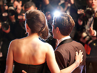 Marion Cotillard and director Xavier Dolan at the gala screening for the film It's Only the End of the World (Juste La Fin Du Monde) at the 69th Cannes Film Festival, Thursday 19th  May 2016, Cannes, France. Photography: Doreen Kennedy