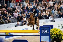 DEUSSER Daniel (GER), Scuderia 1918 Tobago Z<br /> Göteborg - Gothenburg Horse Show 2019 <br /> Longines FEI World Cup™ Final I<br /> Int. jumping competition - speed and handiness<br /> Longines FEI Jumping World Cup™ Final and FEI Dressage World Cup™ Final<br /> 04. April 2019<br /> © www.sportfotos-lafrentz.de/Stefan Lafrentz