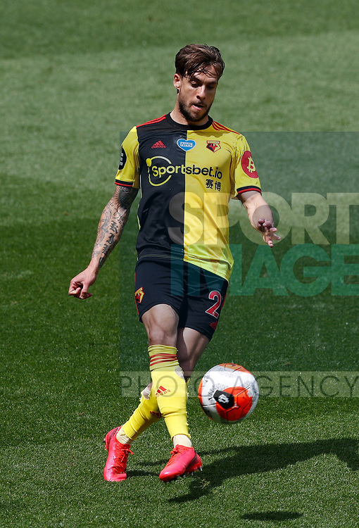 Kiko Femenia of Watford during the Premier League match at Vicarage Road, Watford. Picture date: 20th June 2020. Picture credit should read: Darren Staples/Sportimage