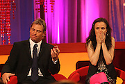 SHANE WARNE JULIET LEWIS ON THE BIGGER PICTURE WITH GRAHAM NORTON.26.9.06.PIX STEVE BUTLER