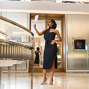 Model Tiffany Jones poses for a photograph for the November issue of Bay Magazine at Tiffany & Co. inside the International Plaza Thursday, Sept. 21, 2017 in Tampa.